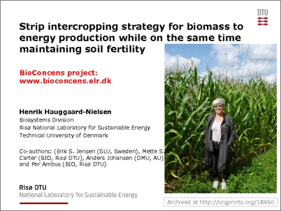 Organic Eprints - Strip intercropping strategy for biomass
