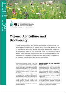 Cover of Organic agriculture and biodiversity