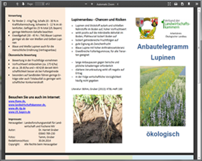 Practical advice for organic production of lupines