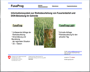 FusaProg: risk assessment of fusarium and mycotoxin infestation in wheat production