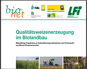 Organic quality wheat production - Results of long-term field trials of cultivation and selection of varieties