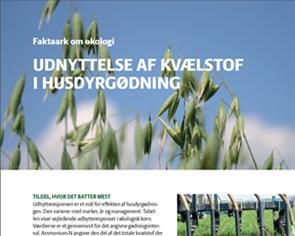 Efficient nitrogen use from livestock manure