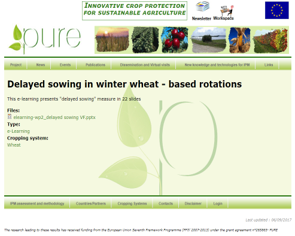 Modification/change of sowing date in winter wheat