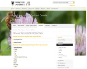 Organic Field Crop Production