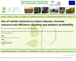 Use of variety mixtures to reduce disease, increase resource-use efficiency resulting in enhanced profitability