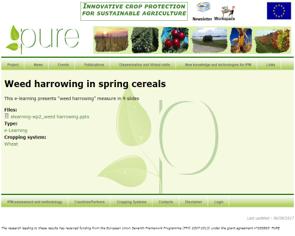 Weed harrowing in spring cereals
