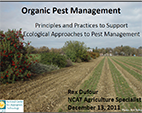 Pest Management in Organic Production Systems