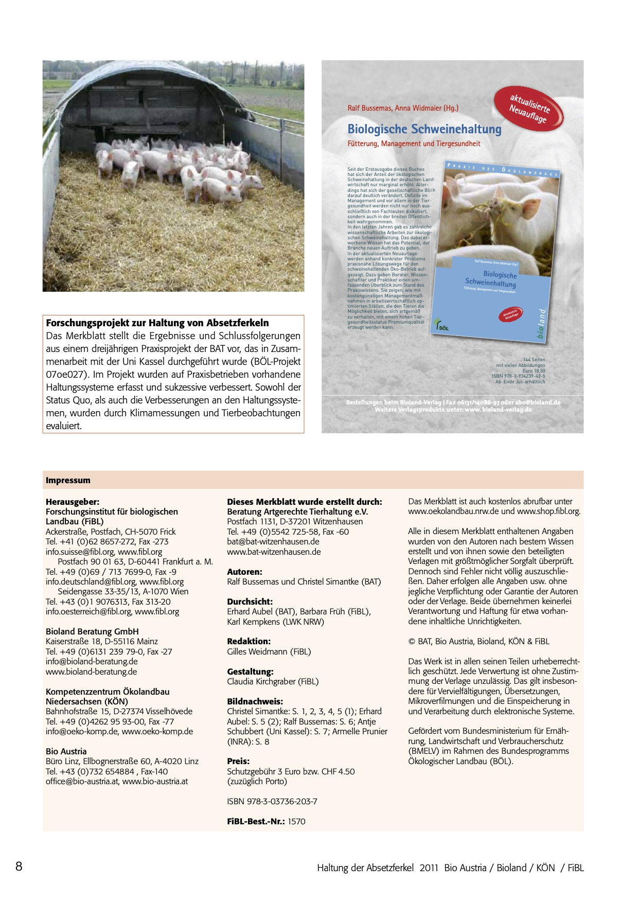 Optimising weaning management in piglets