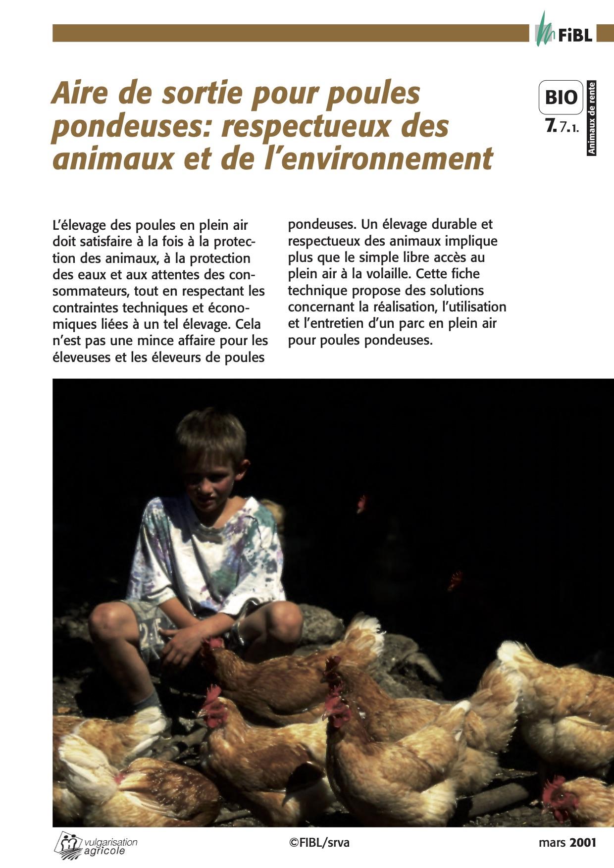 Free-range laying hens: animal and environment friendly