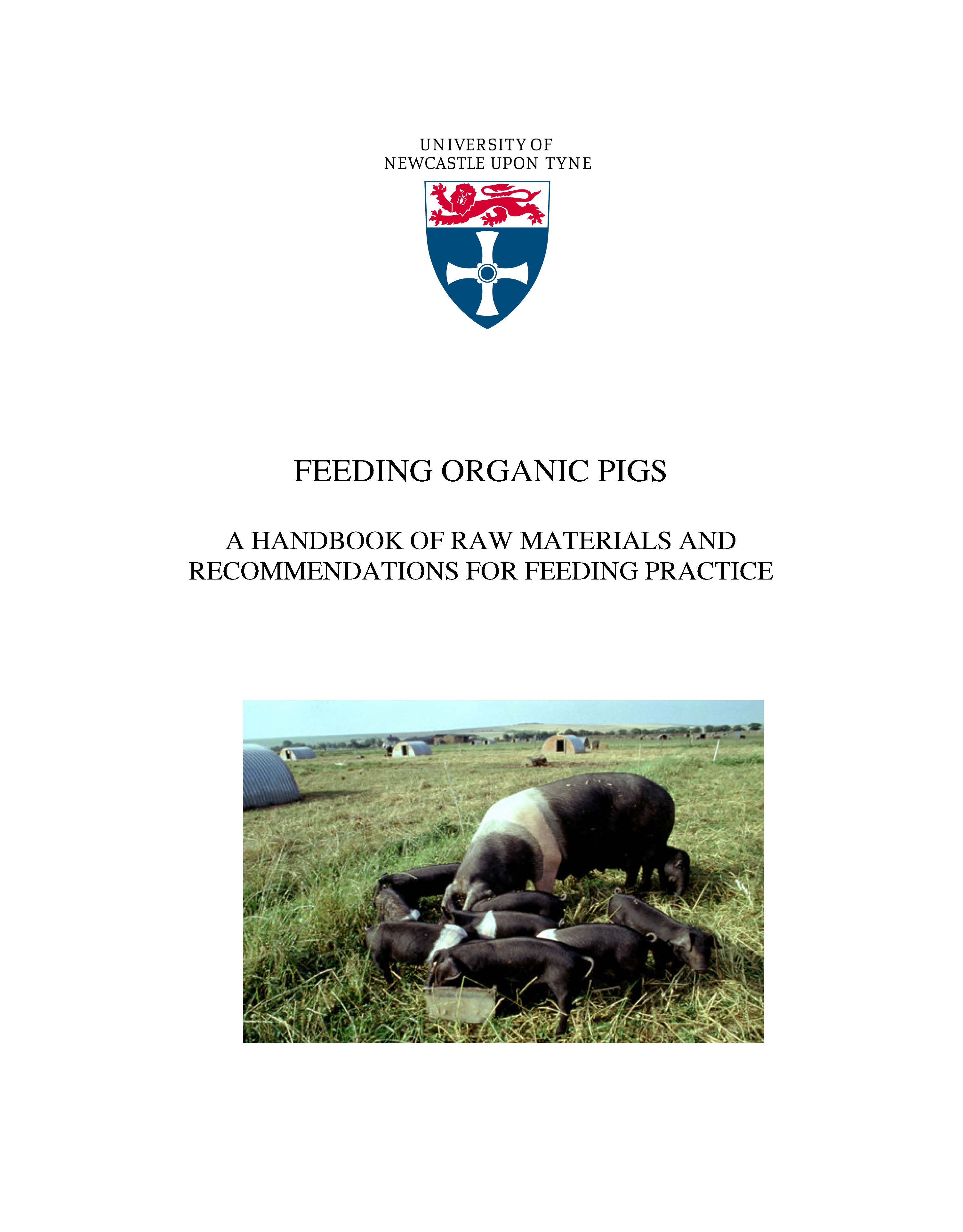 Feeding organic pigs: a handbook of raw materials and recommendations for feeding practice