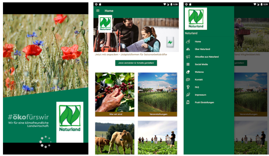 Naturland app for farmers and advisers